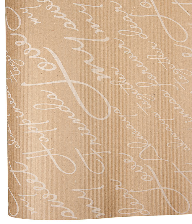 Бумага крафт коричневая с надписями №13