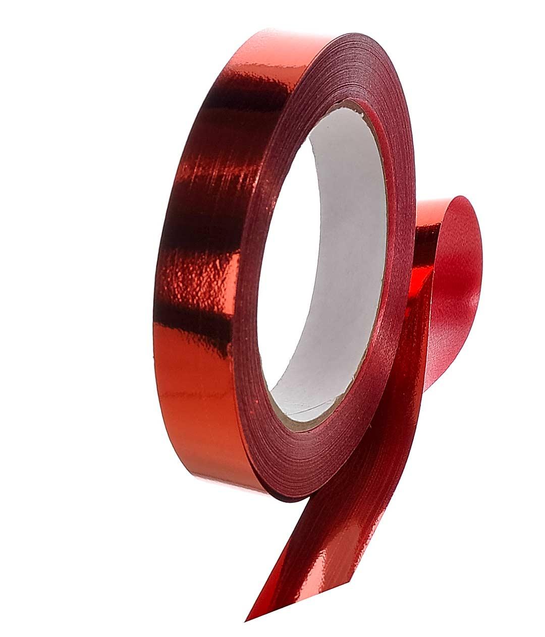 Лента полипропиленовая металлик красный Shax 20мм