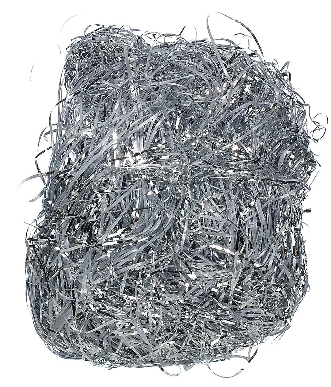 Наполнитель для подарков и коробок полипропиленовый серебро Shax